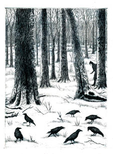 """Crows in Winter"""
