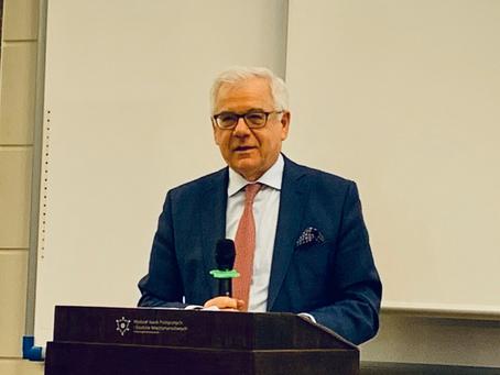 Debata z Ministrem Spraw Zagranicznych prof. Jackiem Czaputowiczem
