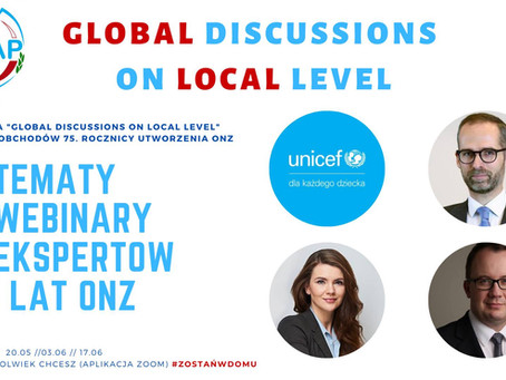 Obchody 75 lecia ONZ - 1 spotkanie online za nami!