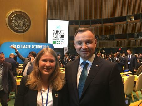 Członkini UNAP na YCS i Climate Action Summit w Nowym Jorku