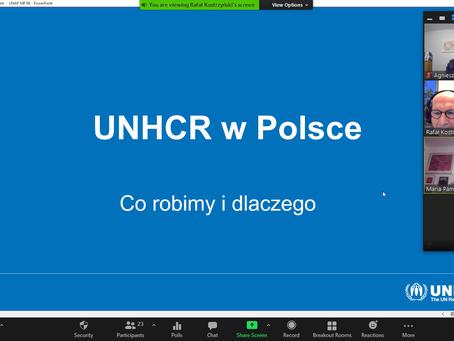 Spotkanie członkiń i członków UNAP z UNHCR Polska