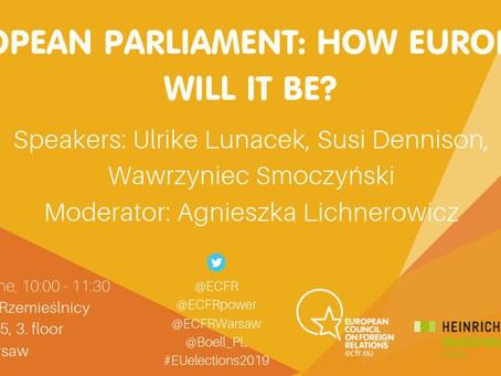 Relacja z debaty: Parlament Europejski - jak bardzo europejski?