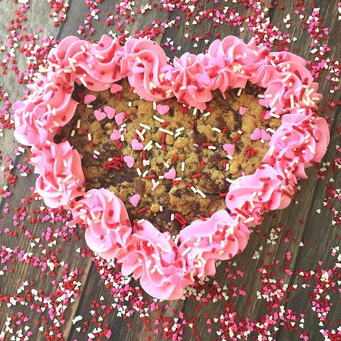 Sweet Heart Cookie Cake