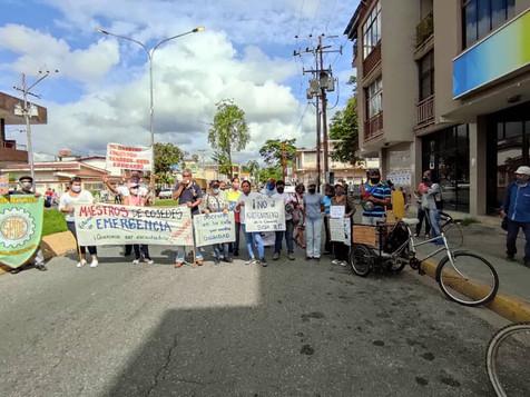 Gremio docente alza su voz contra la dictadura de Maduro y ratifican respaldo a movilizaciones