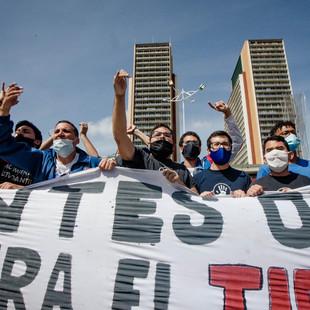 Estudiantes universitarios salieron a las calles a rechazar fraude 6D y a apoyar la Consulta Popular