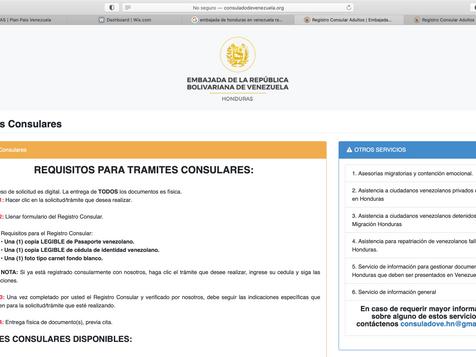 Embajada de Venezuela en Honduras inauguró plataforma de servicios consulares