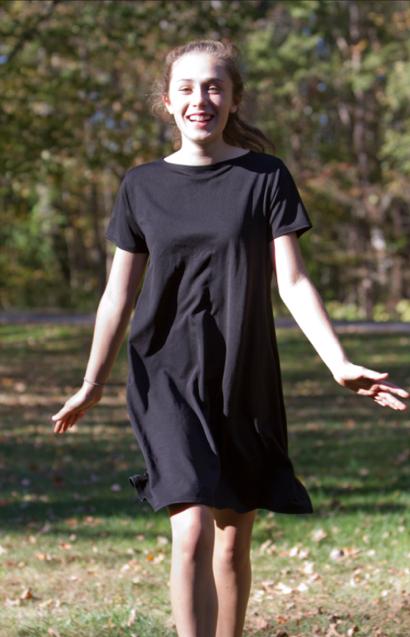 BLACK T-SHIRT DRESS