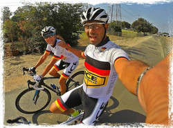 Nick and Jolene sporting the GERMANY ICE kit. Beautiful ride along the Beaches of SoCal