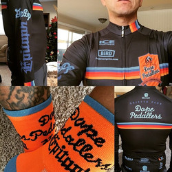 #regram _cycloloco Dope Pedallers custom cycling gear #icesportswear #dopepedallers #customapparel #