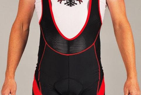 Carbon Bib Shorts - Red/Black