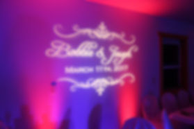 Wedding GOBO Monogram Lighting Rentals in Arizona