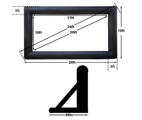 Outdoor Blow Up Projection Screen Rentals for Arizona Movie Nights
