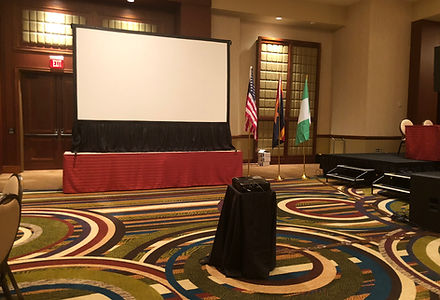 Projection Screen and Projector Rental for Corporate Event in Phoenix, Arizona