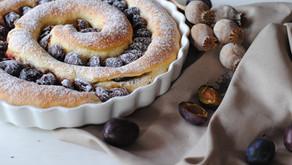 Švestkový koláč s mákem