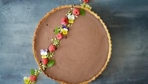 Křehký koláč s čokoládovou pěnou