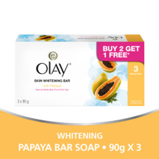 OLAY Skin Whitening Bar with PAPAYA (3 x 90g)
