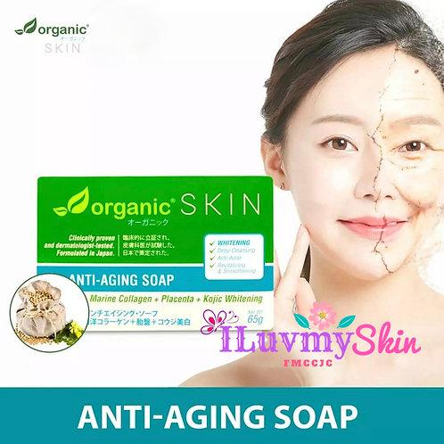 Organic Skin Japan Anti-Aging Soap with Marine Collagen + Placenta + Kojic 65