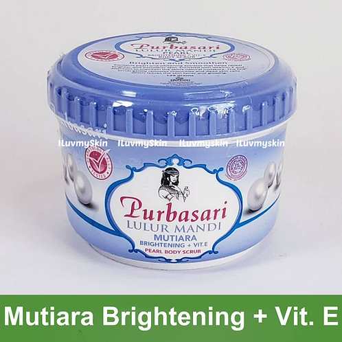 Purbasari Lulur Mandi Mutiara Brightening + Vit. E Pearl Body Scrub 125g