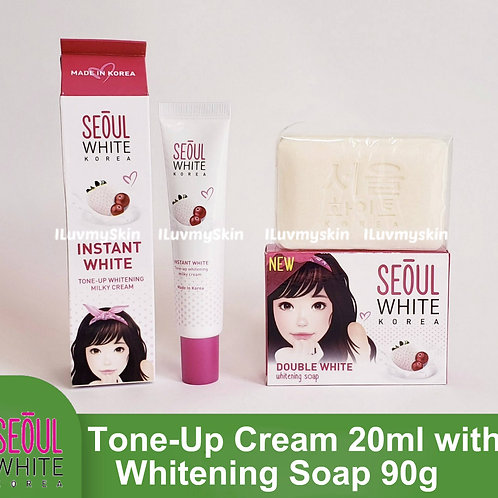 Seoul White Korea Tone-Up Milky Cream For Face (20ml) + Soap 90g