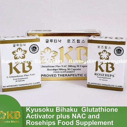 KB Kyusoku Bihaku Glutathione Skin Whitening Pills (30 caps)