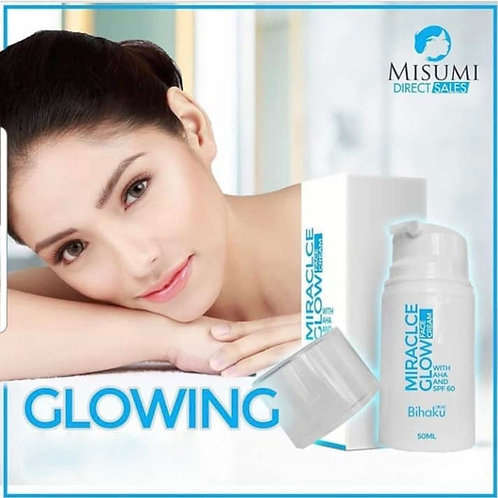 Misumi Bihaku Miracle Glow Face Cream With AHA and SPF 60 50ml