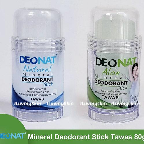 Deonat Mineral Deodorant Underarm Stick Tawas 80g