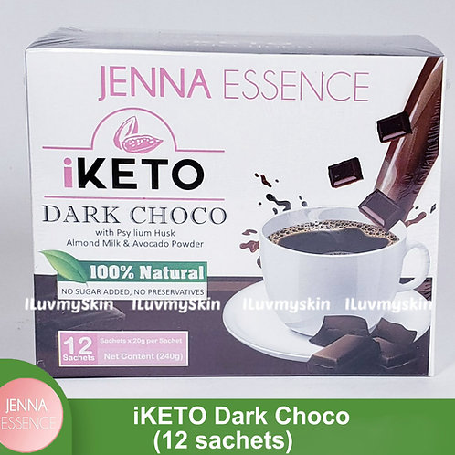 Jenna Essence Slimming Keto DARK CHOCO iDRINK (12 Sachets)
