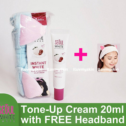 Seoul White Korea Instant WHITENING Tone-Up Milky Cream For Face (20g)
