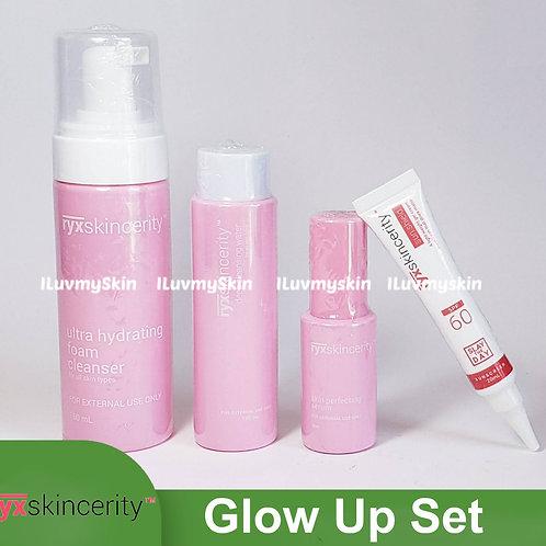 RyxSkincerity Glow Up Set (Foam Cleanser, Serum, Toner and Sunshield)