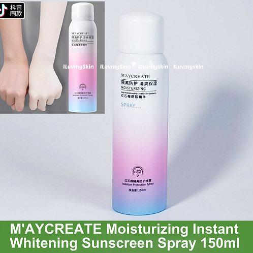 M'AYCREATE Moisturizing Instant Whitening Sunscreen Spray 150ml