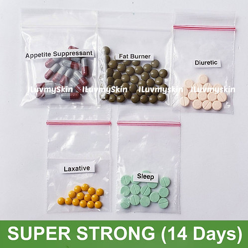 Bkk SUPER STRONG Slimming Diet Pills from Thailand (14 days)