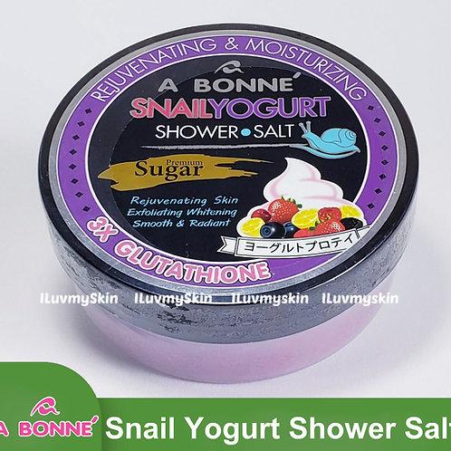 A BONNE Snail Yogurt Shower Salt Sugar 350g
