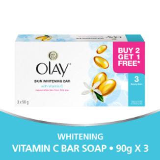 OLAY Skin Whitening Bar with VITAMIN C (3 x 90g)