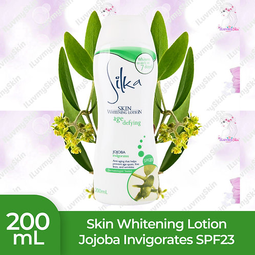 Silka Skin Whitening Lotion with Jojoba Invigorates SPF23 200ml