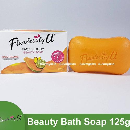 Flawlessly U 2in1 Papaya Calamansi Whitening Soap 125g