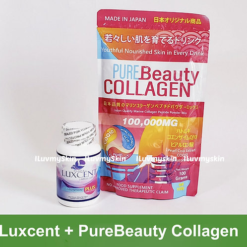 Luxcent and Pure Beauty Collagen 100,000mg (COMBO)