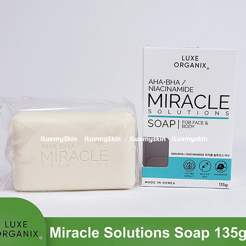 Luxe Organix AHA-BHA Miracle Solutions Soap for Face and Body 135g