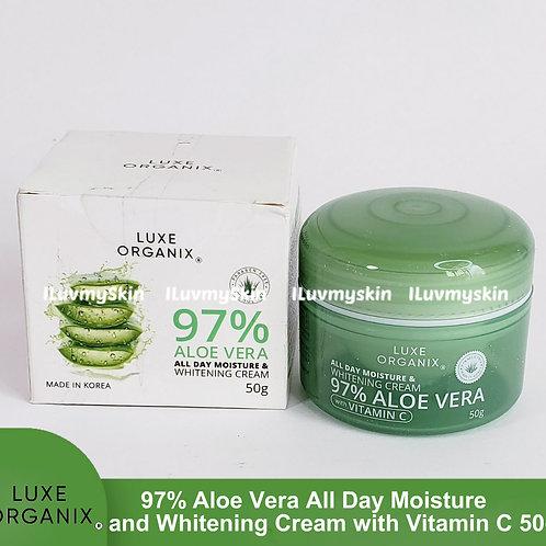 Luxe Organix 97% Aloe Vera All Day Moisture & Whitening Cream 50g