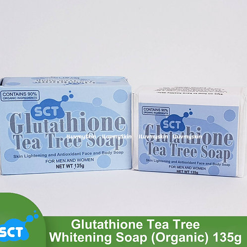 SCT Glutathione Tea Tree Whitening Soap  (Organic) 135g