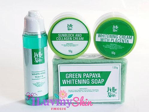 Misumi Green Whitening Facial Set (Maintenance Set)