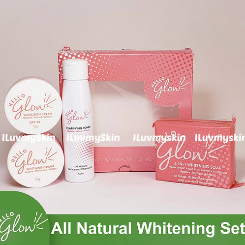 Hello Glow All Natural Whitening Set by Ever Bilena