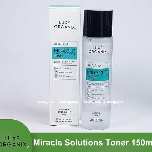 Luxe Organix AHA-BHA Miracle Solutions Toner 150ml