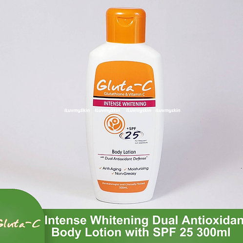 Gluta-C Intense Whitening Dual Antioxidant Lotion with SPF 25 (300ml)