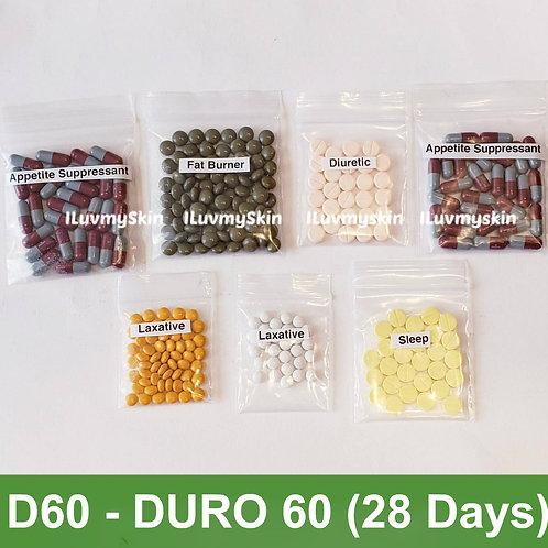 Bkk D60 (DURO 60) Slimming Diet Pills from Thailand  (28 days)