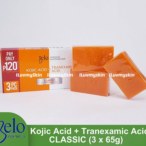 Belo Intensive Kojic & Tranexamic Acid Classic Soap (3 bars x 65g)