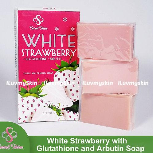 Seoul Skin White Strawberry with Glutathione and Arbutin (3 bars)