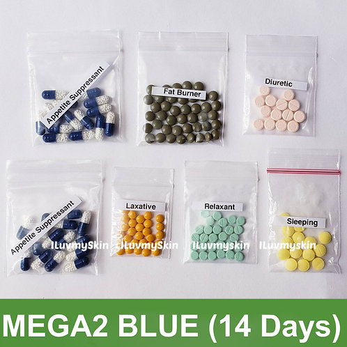 Bkk MEGA2 BLUE Slimming Diet Pills from Thailand  (14 days)