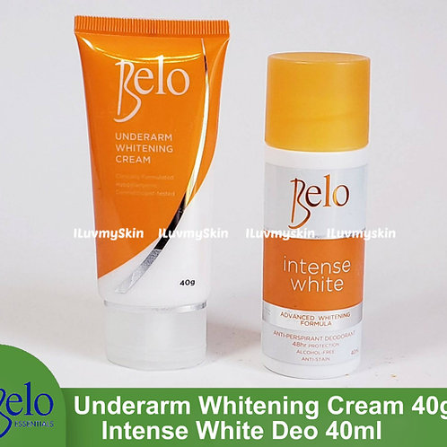 Belo Intense White Deodorant 40mL and Underarm Whitening Cream 40g