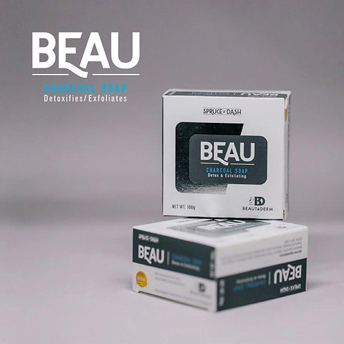 Beautederm Beau Charcoal Soap Detox and Exfoliating 100g