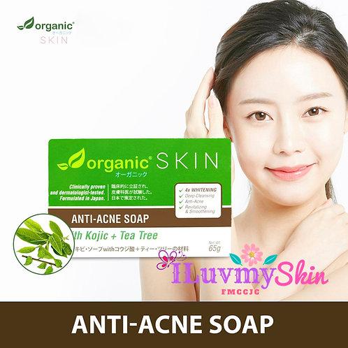 Organic Skin Japan Anti-Acne Whitening Soap with Kojic + Tea Tree 65g